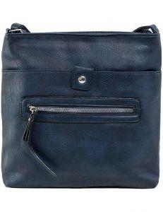 Tmavě modrá dámská kabelka se zipem vel. ONE SIZE 140632-514325