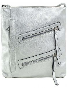 Stříbrná crossbody kabelka se zipy vel. ONE SIZE 140648-514341