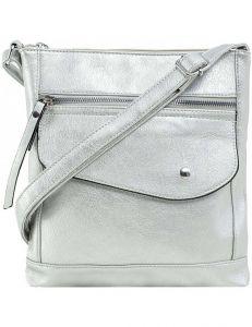 Stříbrná dámská crossbody kabelka vel. ONE SIZE 140654-514347
