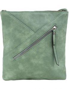 Zelená dámská kabelka s prošíváním vel. ONE SIZE 140660-514353