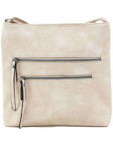 Béžová dámská kabelka se zipy vel. ONE SIZE 140691-514433