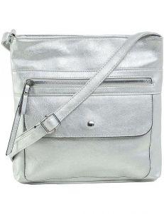 Stříbrná dámská kabelka přes rameno vel. ONE SIZE 140696-514439