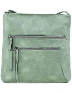 Zelená dámská kabelka se zipy vel. ONE SIZE 140698-514441