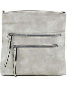 šedá dámská kabelka se zipy vel. ONE SIZE 140705-514448
