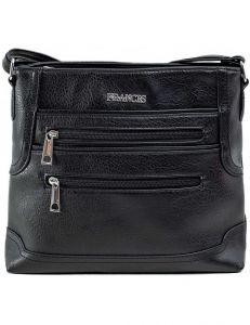 černá dámská kabelka se zipy vel. ONE SIZE 140708-514451