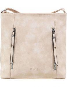 Béžová dámská kabelka se zipy vel. ONE SIZE 140713-514458