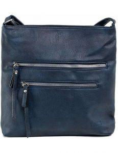 Tmavě modrá dámská kabelka se zipy vel. ONE SIZE 140716-514461