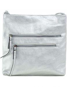 Stříbrná dámská kabelka se zipy vel. ONE SIZE 140722-514472