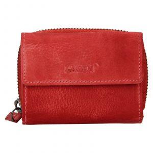Dámská kožená peněženka Lagen Carmena – červená