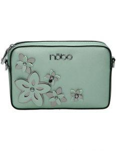 Nobo mintová crossbody kabelka s květy vel. ONE SIZE 141818-520113