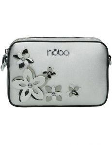 Nobo stříbrná crossbody kabelka s květy vel. ONE SIZE 141912-520215