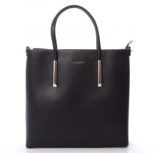 Luxusní dámská kabelka černá – FLORA&CO Paris černá