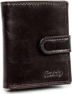 Pánská hnědá kožená peněženka rovicky vel. ONE SIZE 133488-482101