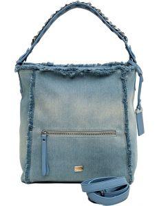 Světle modrá džínová shopper kabelka vel. univerzální 114651-522527