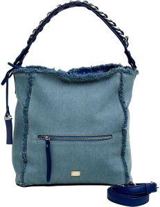 Světle modrá džínová shopper kabelka vel. univerzální 114652-522528