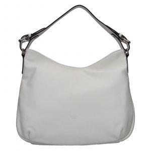 Elegantní dámská kožená kabelka Katana Mande – bílá