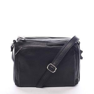 Dámská kožená crossbody kabelka černá – ItalY Bandit černá
