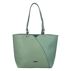 Dámská módní kabelka přes rameno bledě zelená – David Jones Bijanka zelená