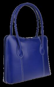 Modré kožené kabelky přes rameno Palagio Azzuro