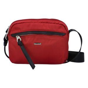 Malá dámská crossbody kabelky tmavě červená – David Jones Júlia červená