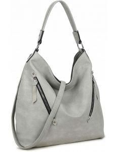 Luigisanto šedá shopper bag se šikmými zipy vel. ONE SIZE 143822-528971