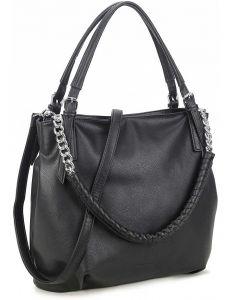 Luigisanto černá kabelka s ozdobnou rukojetí vel. ONE SIZE 143823-528972