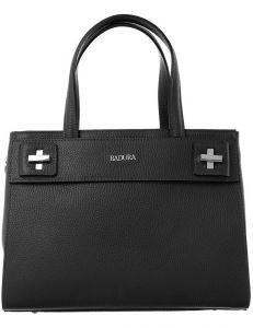 Badura tmavě šedá kožená shopper kabelka vel. ONE SIZE 143840-528998