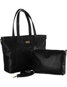 Badura černá sada – shopper kabelka s kosmetickou taškou ba/b26 as black vel. ONE SIZE 143869-529067