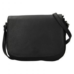 Kožená dámská crosbody kabelka Katana Matelde – černá