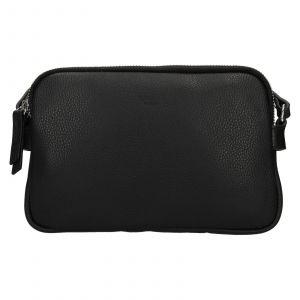 Kožená dámská crosbody kabelka Katana Francia – černá