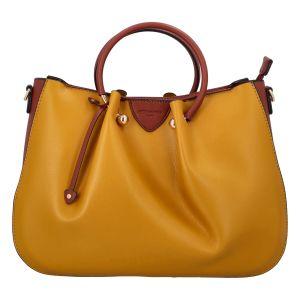 Dámská kabelka do ruky žluto koňaková – Hexagona Javida žlutá