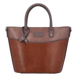 Malá dámská kabelka do ruky koňaková – Hexagona SanDeep koňak