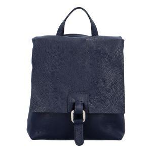 Dámský kožený batůžek kabelka tmavě modrý – ItalY Francesco tmavě modrá