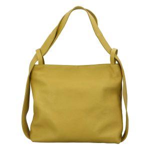 Dámská kožená kabelka přes rameno zeleno žlutá – ItalY Armáni žlutá