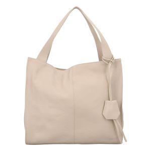 Dámská kožená kabelka béžová – ItalY Methy béžová