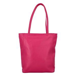 Dámská kožená kabelka přes rameno fuchsiová – ItalY Nooxies růžová