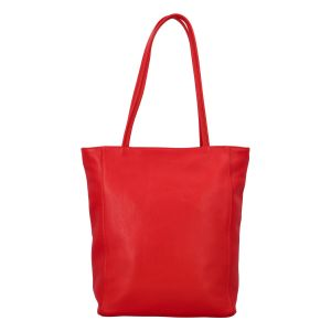 Dámská kožená kabelka přes rameno červená – ItalY Nooxies červená