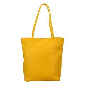 Dámská kožená kabelka přes rameno žlutá – ItalY Nooxies žlutá