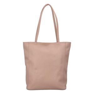 Dámská kožená kabelka přes rameno světlá taupe – ItalY Nooxies taupe