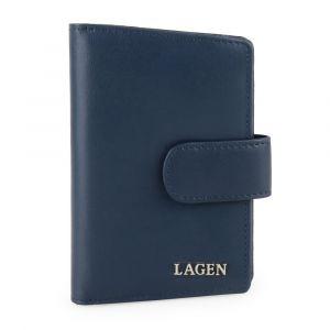 Lagen Dámská kožená peněženka 50313 – tmavě modrá