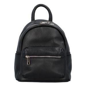 Dámský kožený batůžek černý – ItalY Fellas černá
