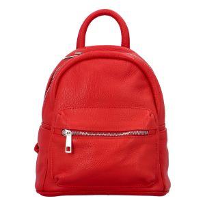 Dámský kožený batůžek červený – ItalY Fellas červená
