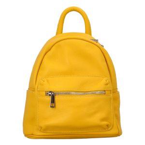 Dámský kožený batůžek žlutý – ItalY Fellas žlutá