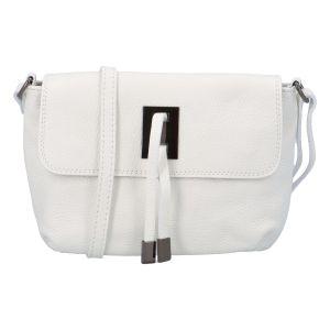 Dámská kožená crossbody kabelka bílá – ItalY Porta bílá