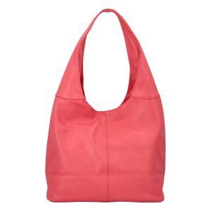 Dámská kožená kabelka přes rameno lososově růžová – ItalY SkyFull růžová