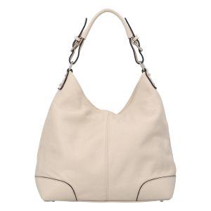 Dámská kožená kabelka béžová – ItalY Inpelle béžová