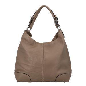 Dámská kožená kabelka tmavá taupe – ItalY Inpelle taupe