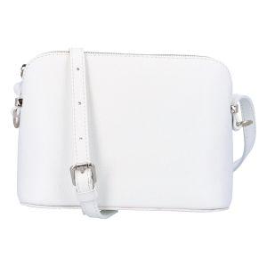 Dámská kožená crossbody kabelka bílá – ItalY M7772 bílá