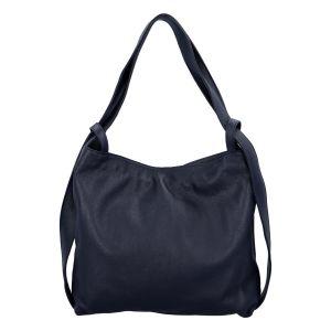 Dámská kožená kabelka přes rameno tmavě modrá – ItalY Armáni tmavě modrá