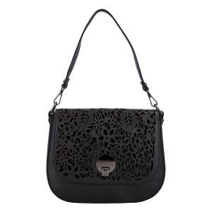 Dámská kožená crossbody kabelka černá – ItalY Bettery černá